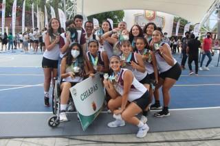 Chiapas gana medalla de plata en el basquetbol de los Juegos Nacionales Conade 2021