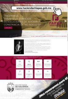 Presenta Secretaría de Hacienda nueva imagen en página web