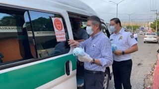 Secretaría de Movilidad y Transporte y Ayuntamiento de Tuxtla realizan operativo de concientización Covid-19