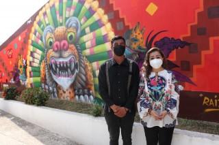 """Inauguran mural """"Raíz Zoque"""" con motivo al Día Internacional de las Juventudes"""